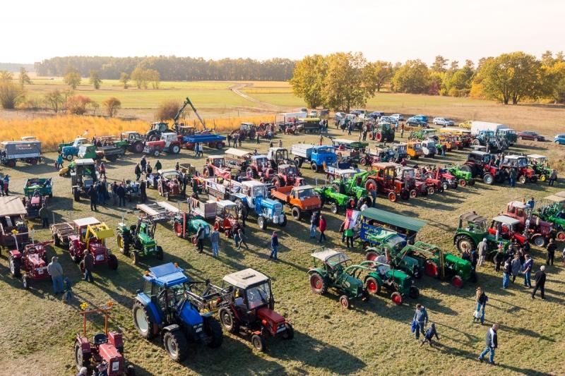 Traktoren beim Treckertreffen auf Wiese