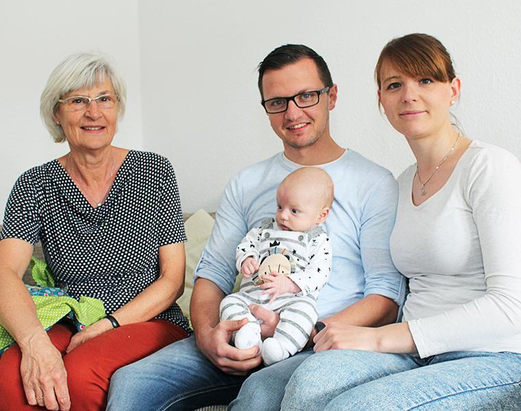 Regina Breyer bei Besuch bei den Eltern
